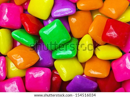 background of colored gum square - stock photo