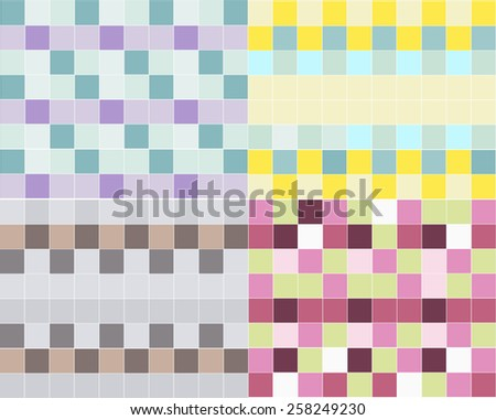 background of colored squares - stock photo