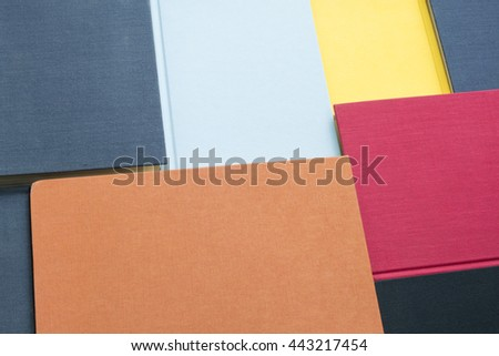 Background of colorful book covers.