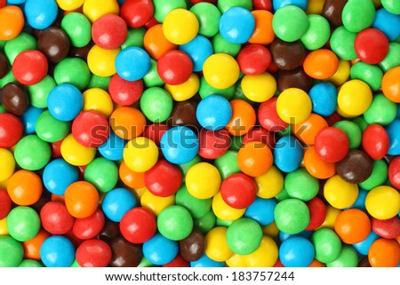 Background of colorful chocolate coated candy  - stock photo