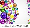 background of colorful decorative candy elements. - stock photo