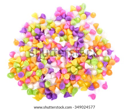 Background of colorful dessert call ''Arlua'', or candy Allauch