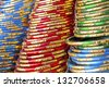 background of colorful indian bangles - stock photo