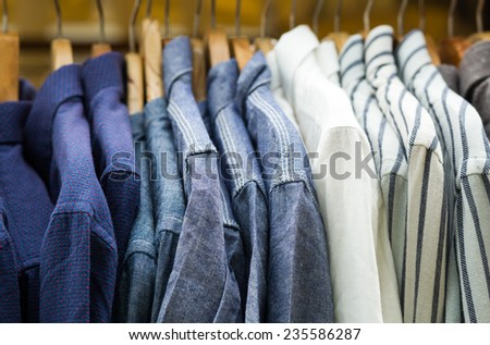 background of colorful shirt on a hanger