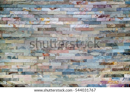 Background of colorful stone wall