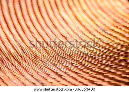 background of copper coil - stock photo