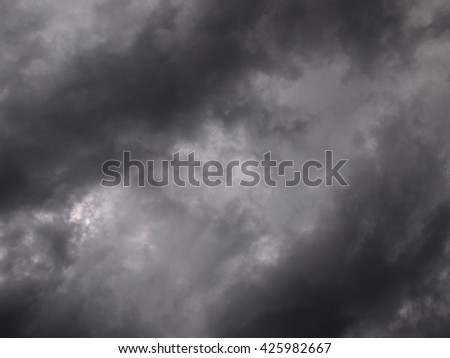 Background of dark clouds and sky