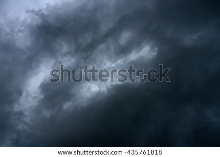 Background of dark clouds before rain