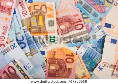 background of different paper eurobond notes as part of the trading system