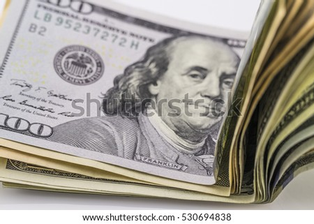 Background of dollar bills, money from dollars usa