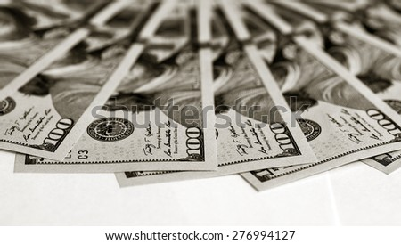 Background of dollars bills