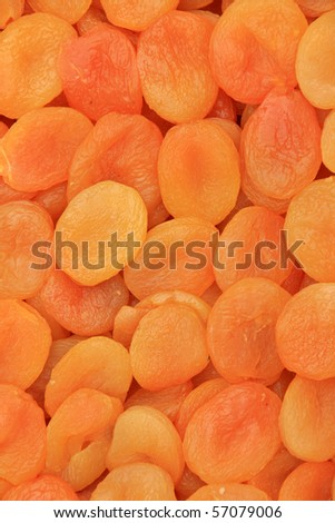 Background of dried peaches - stock photo