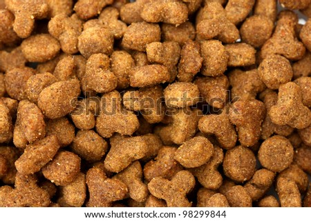 background of dry cat food