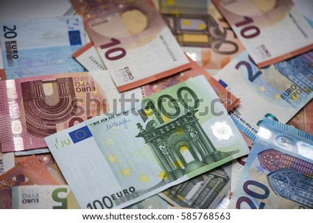 Background of euro bills. High resolution picture