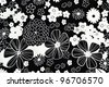 background of fabric with flower pattern - stock photo
