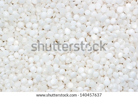 background of fine white polymer granules