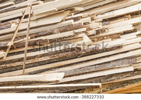 Background of firewood planks in a heap