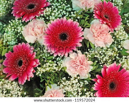 Background of flowers. - stock photo