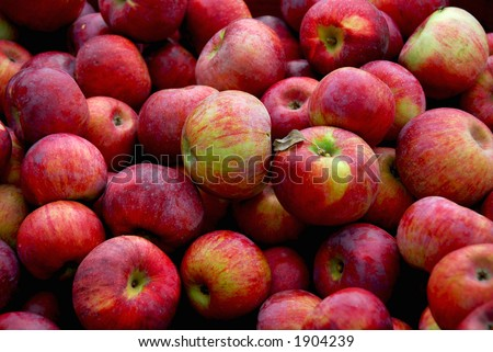 Background of fresh red apples