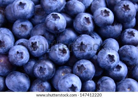 Background of Fresh Ripe Sweet Blueberries - stock photo