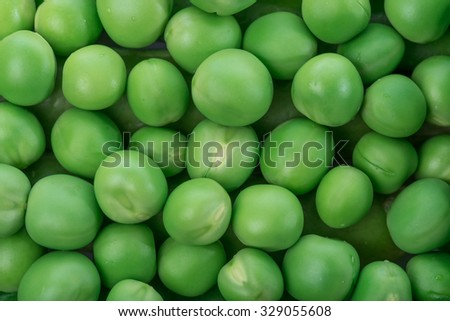 Background of fresh shelled green peas