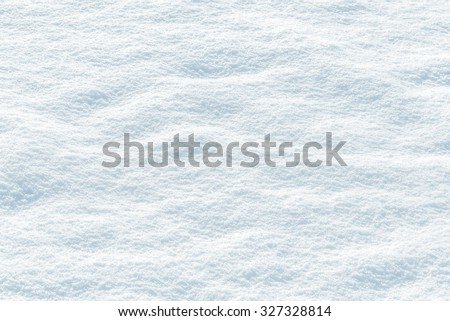 background of fresh snow texture in blue tone - stock photo