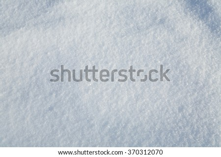background of fresh snow texture in blue tone
