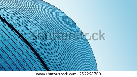 background of glass high rise building skyscrapers in modern futuristic downtown Business concept  - stock photo