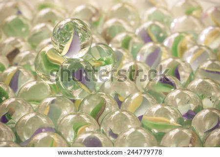 Background of glass marbles - stock photo