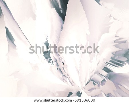 Background of glitch manipulations with 3D effect. Abstract flow of crystals in white and grey shades. It can be used for web design, printed products and visualization of music