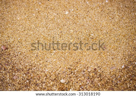 background of gravel and sand