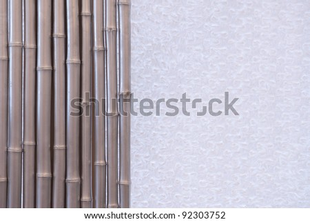 background of gray bamboo - stock photo