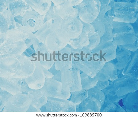 Background of green ice cubes