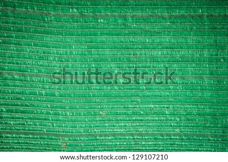 Background of green plastic woven