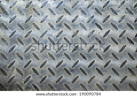 Background of    grunge diamond metal plate