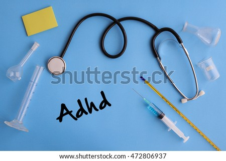 Background of Health Composition- Adhd Concept