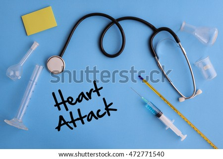 Background of Health Composition- Heart Attack Concept