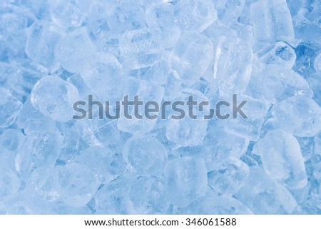 Background of ice cubes - stock photo