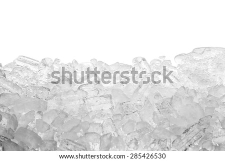 Background of  ice cubes isolated - stock photo