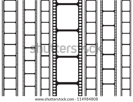 background of isolated 35 mm film strip - stock photo