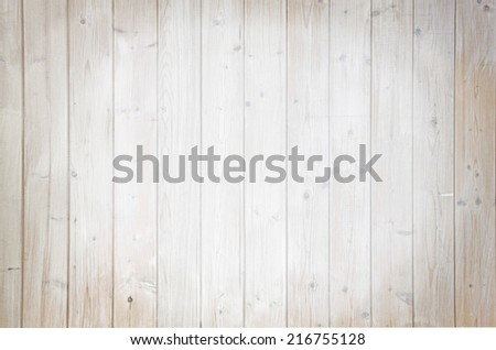 Background of light brown wooden planks, painted with environmentally friendly colors, vertical lined, spotlight - stock photo