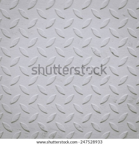 Background of metal diamond plate in gray color.