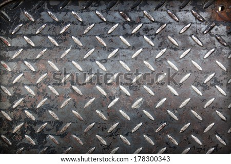 Background of metal plate in black color.