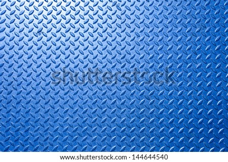 Background of metal  plate in blue color - stock photo