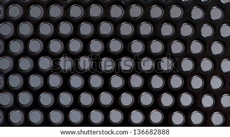 Background of metal with round holes