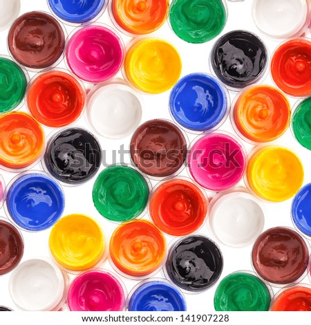 Background of Multi Colored Paint - stock photo