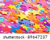 Background of multicolored confetti stars - stock photo