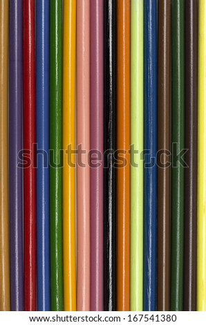 Background of multicolored pencils. Photo.