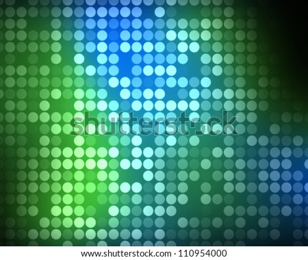Background of multiples green and blue dots - stock photo