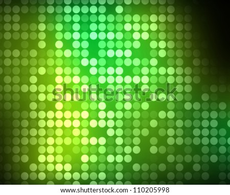 Background of multiples green dots - stock photo